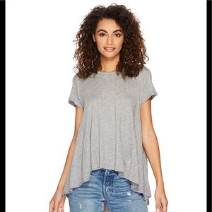 Free People It's Yours High Low Tee (M) Gray